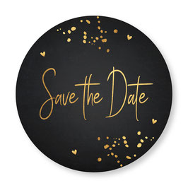 25 sluitzegel Save the Date zwart goudlook