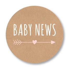 25 stuks sluitstickers baby news kraftlook meisje