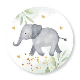 25 stuks sluitstickers olifantje groen