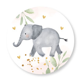 25 stuks sluitstickers olifantje roze