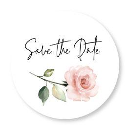 25 sluitzegel Save the Date roos