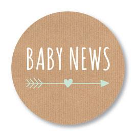 25 stuks sluitstickers baby news kraftlook jongen