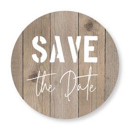 25 sluitzegel Save the Date houtlook