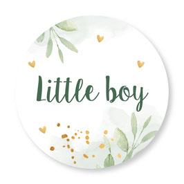 25 stuks sluitstickers floral boy
