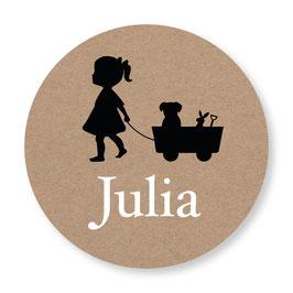 25 stuks sluitstickers silhouet Julia