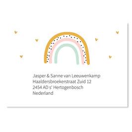 25 stuks adressticker doop regenboog meisje
