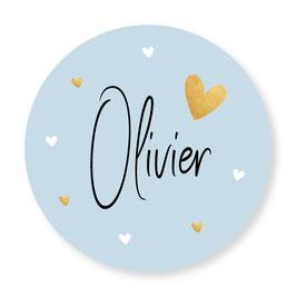 25 stuks sluitstickers blauw Olivier