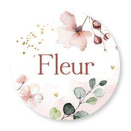 25 stuks sluitstickers bloemen fleur
