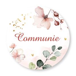 25 stuks sluitzegels communie bloemen