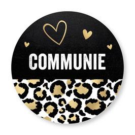 25 stuks sluitzegels communie panterprint