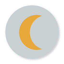 25 stuks sluitstickers maan lichtgrijs