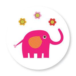 25 stuks sluitstickers olifant bloemen