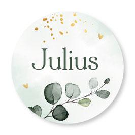 25 stuks sluitstickers floral Julius
