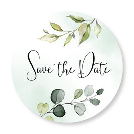 25 sluitzegel Save the Date floral groen