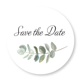 25 sluitzegel Save the Date eucalyptus