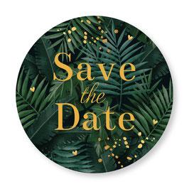 25 sluitzegel Save the Date botanisch groen