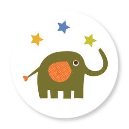 25 stuks sluitstickers olifant sterren