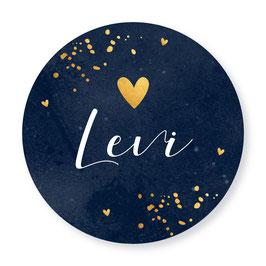 25 stuks sluitstickers goudlook Levi