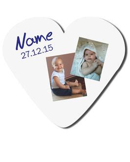 Herzpolster - mit Wunschtext und 2 Fotos