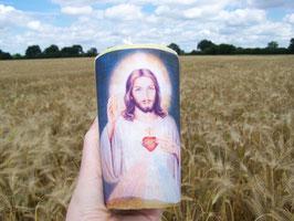 "3 R. Kerze ""Jesus Christus"" mit Herz"
