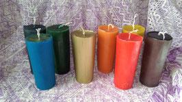 """8AQ. Kerzen-Set """"7 Regenbogenfarben und die 8 Kerze ist gold"""""""