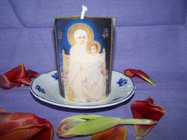 """1AQ. Gebetskerze """"Mutter Maria mit dem Kind Jesus"""""""