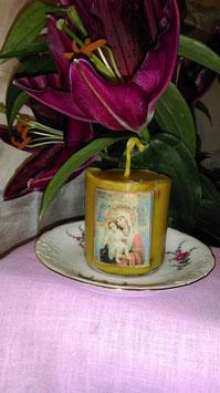 """13 A. Kerze mit Ikone """"Maria, die Gnadende"""""""