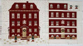 p217 rotes Adventskalenderhaus