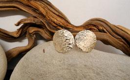 Ohrstecker K104 Fair Trade Silber aus Bolivien stark kantig geschmiedet