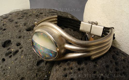 "Armband  K2050 ""Tubes"" mit Honduras Schwarzopal"