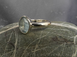 Ring K111 Fair Trade Silber aus Bolivien mit Fair Trade Aquamarin aus Brasilien