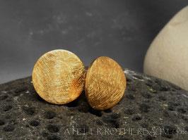 Ohrstecker K104 gekritzelt Finnland Waschgold (750)