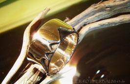 Ring K1a zackig ausgesparte Ringschine gekritzelte untere Oberfläche Fair Trade Silber (925) aus Bolivien