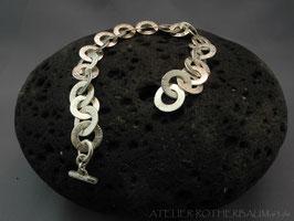 """Armband """"Ösi"""" K55 scharf gehämmert mit Fair Trade Silber (925) aus Bolivien"""