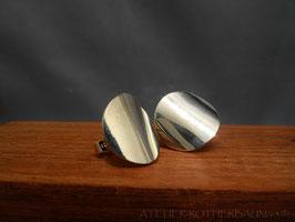 Ohrstecker K104 poliert Fair Trade Silber aus Bolivien