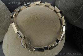 """Armkette K83 """"Trapez"""" poliert  Fair Trade Silber (925) aus Bolivien"""