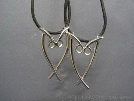 "Halsschmuck ""Eule"" K91 Fair Trade Silber aus Bolivien"