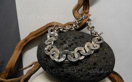 """Armband """"Ösi"""" K55 rund gehämmert mit Fair Trade Silber (925) aus Bolivien"""