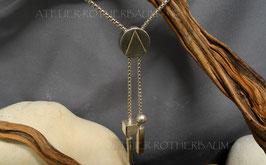 """Halsschmuck """"Knopf"""" K123 Fair Trade Silber aus Bolivien oder Recycling Gold"""