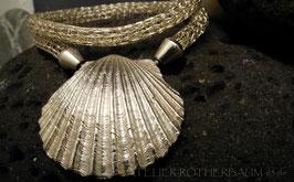 """Strick Collier """"Muschel""""  K118 Fair Trade Silber"""