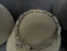 """Armkette K83 """"Trapez"""" gekritzelt  Fair Trade Silber (925) aus Bolivien"""