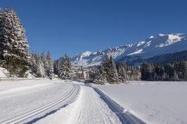 Doppelkarte A5 / hochweiss - Winter Heidsee / Valbella - PC298507
