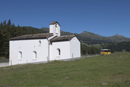 Doppelkarte B6 / blütenweiss - Kapelle St. Cassian - MSW31