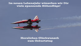 Doppelkarte B6 blütenweiss - Patrouille Suisse - P4145729-G