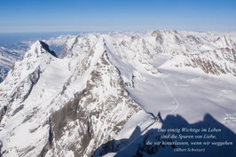 Doppelkarte A5 hochweiss /  Alpen  / P3124640-STF