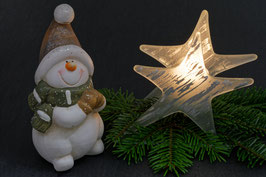 Doppelkarte A5 / blütenweiss  - Weihnachten   -   MSW0646