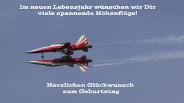 Doppelkarte A5 rot - Patrouille Suisse - P41457729-G