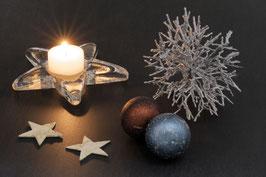Doppelkarte A5 naturweiss  - Weihnachten   -   MSW0634