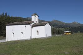 Doppelkarte A5 / hochweiss - Kapelle St. Cassian - MSW31