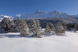 Doppelkarte A5 / hochweiss - Winterlandschaft am Heidsee - PC298530